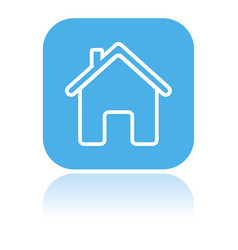 home icon square blue icon of a building vector image