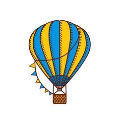 Hot air ballon vector