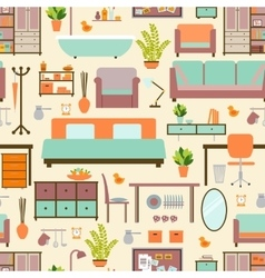 House furniture pattern vector