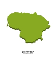 Isometric map of lithuania detailed vector