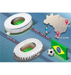 Isometric Stadium of Salvador and Porto Alegre vector