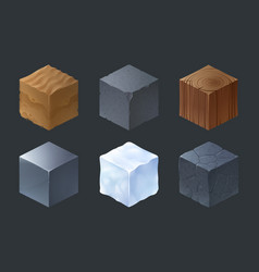 Isometric texture cubes for game vector
