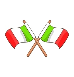Italy crossed flags icon cartoon style vector