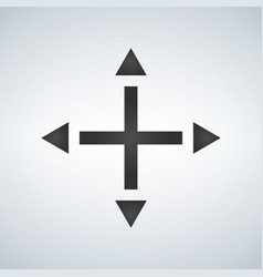 joystick arrows differnet directions isolated on vector image