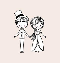 Just married happy vector