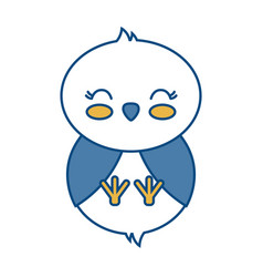 Kawaii chicken icon vector