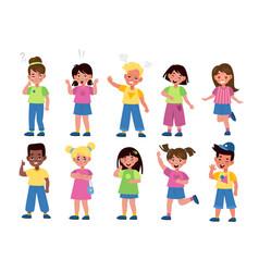 kids emotions international children in different vector image