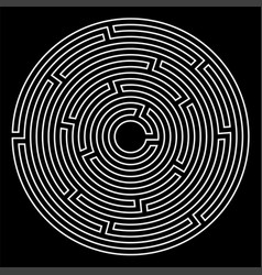 labyrinth game vector image