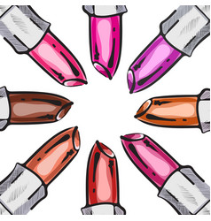 lipstick background vector image