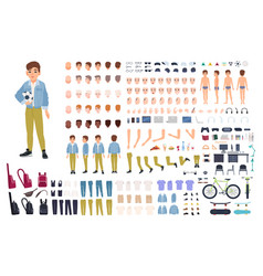 Little boy character constructor male child vector