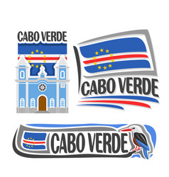 Logo for cabo verde vector