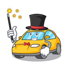 Magician taxi character mascot style vector