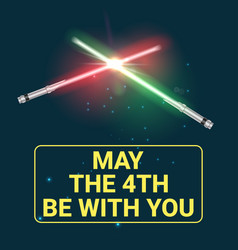 May the 4th holiday vector