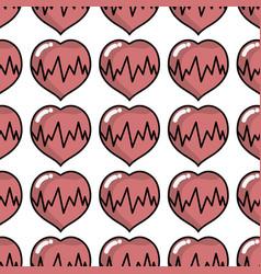 Medical heartbeat to cardiac rhythm background vector