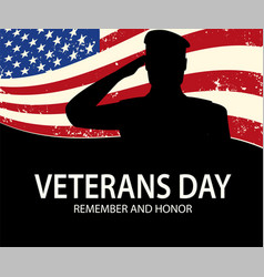 memorial day soldier on background american vector image