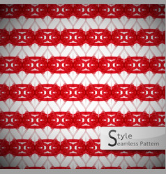 mesh rope red ribbon geometric seamless pattern vector image