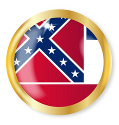 mississippi flag button vector image