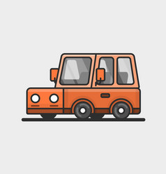 Modern minivan car icon flat design vector