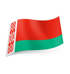 National flag belarus wide red and narrow vector