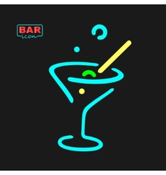 Neon Glass Symbol vector image