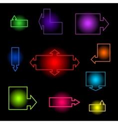 neon index vector image
