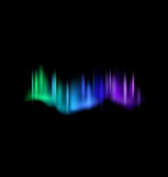 Northern lights aurora borealis amazing polar vector