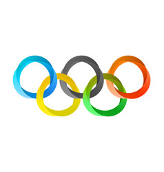 Olympics circles in modern style vector