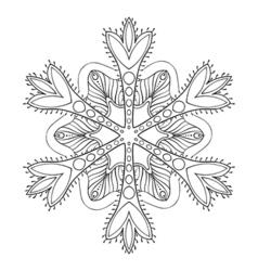 Ornamental winter vector image