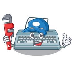 Plumber typewriter in a mascot closet vector