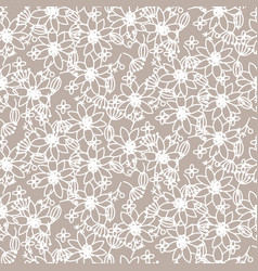 prairie florals beige light colors seamless vector image