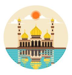 ramadhan greeting background vector image