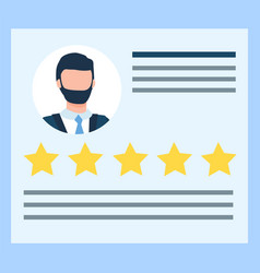 Resume international business company worker vector