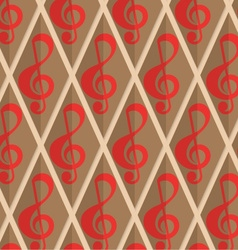Retro fold red G clef vector
