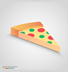 Salami pizza slice simple and clean clip vector