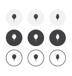 set 3 simple design balloon icons rounded vector image