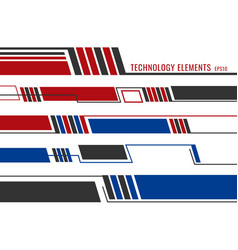 set abstract modern technology futuristic vector image