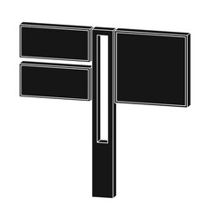 sign single icon in black stylesign symbol vector image