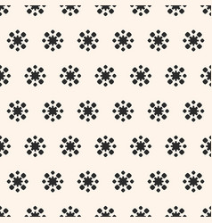 simple floral geometric seamless pattern flower vector image