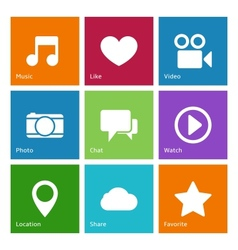 Social media user interface elements vector image