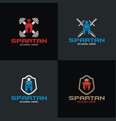 spartan logo design vector image