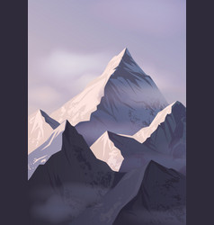 Spectacular landscape with mountain crests vector