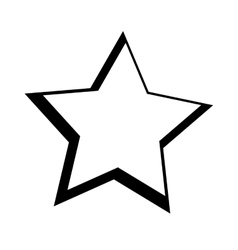 Star space isolated icon vector