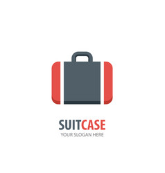 suit case logo for business company simple suit vector image