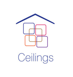 the logo of the ceilings floors vector image
