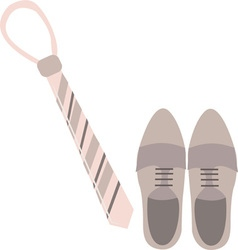 Tie and shoes vector