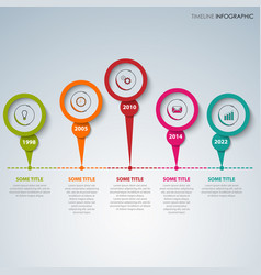 time line info graphic with colorful design vector image