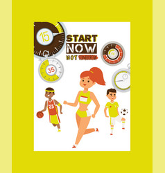 timer concept poster start vector image