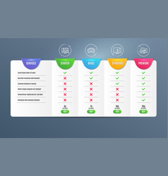 Touch screen seo analytics and car icons set vector