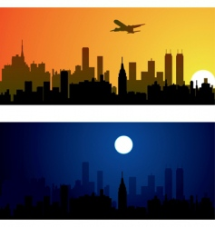 two variants of city ba vector image