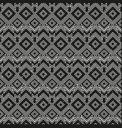 vintage monochrome geometric pattern with grunge vector image